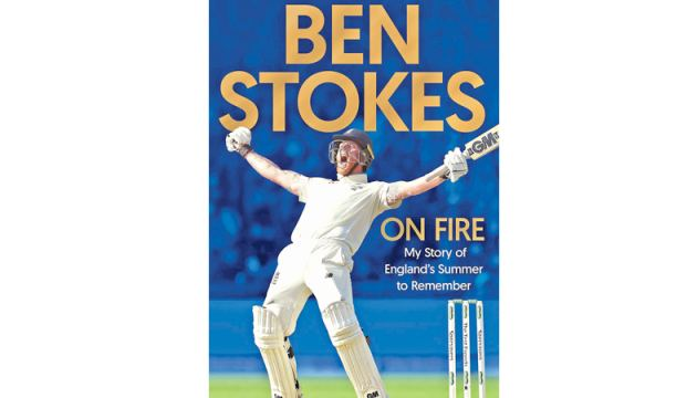 Cover of Ben Stokes' book 'On Fire'.