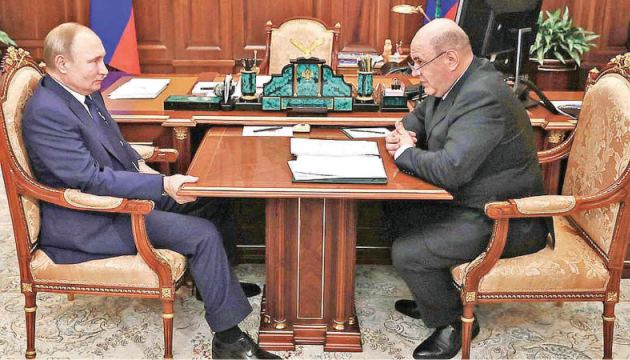 Russian President Vladimir Putin meeting with his newly appointed Prime Minister Mikhail Mishustin.