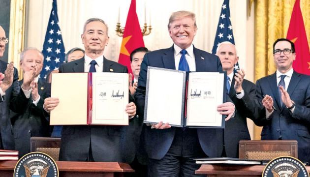 Chinese Vice Premier Liu He said the agreement he signed with US President Donald Trump 'considerably addressed the concerns of both sides.'