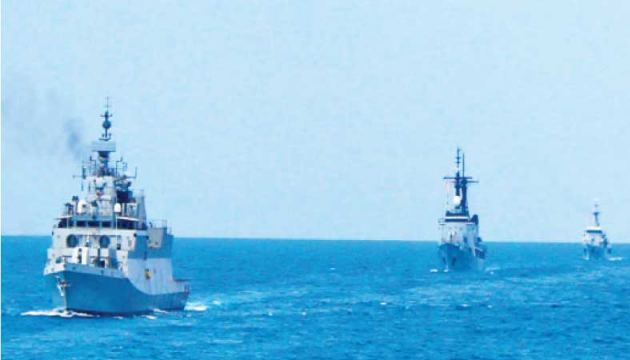 During the bilateral maritime exercise.