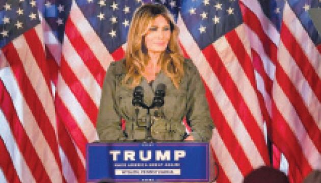 First Lady Melania Trump hit the campaign trail in Pennsylvania for her husband, a week before Election Day.
