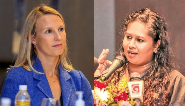 Sarah Twigg and Dr.  Sulochana Segera