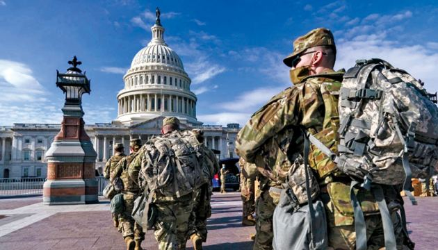 National Guard troops reinforce security around the U.S. Capitol ahead of expected protests leading up to President-elect Joe Biden's inauguration.