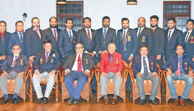 The office bearers of the Mercantile Hockey Association are seen here
