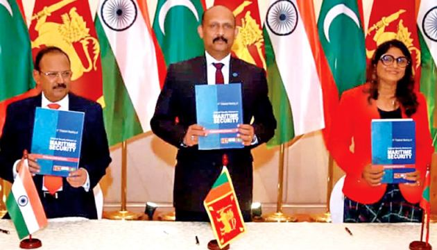 The India-Sri Lanka-Maldives Trilateral NSA level meeting held in Colombo