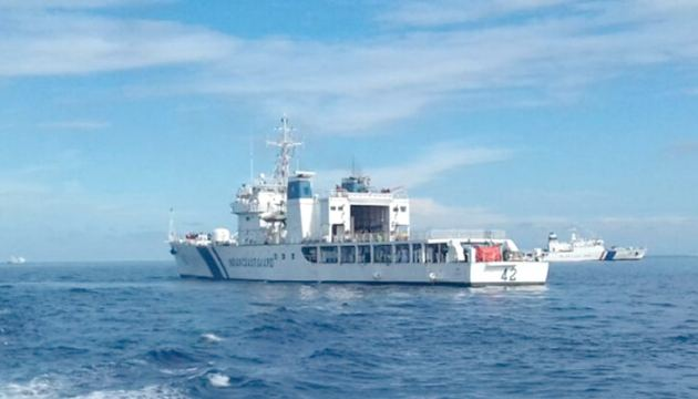 A Maldivian vessel taking part in Dosti exercise
