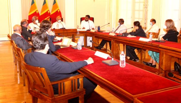 Foreign Minister Dinesh Gunawardena meeting Diplomatic Heads of the EU