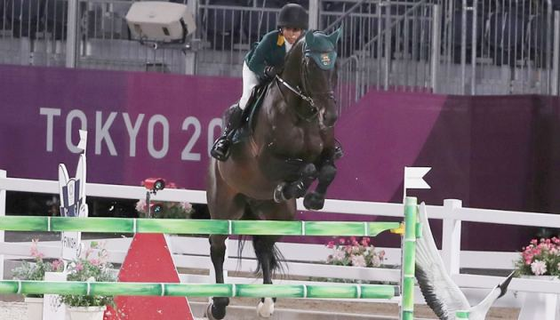 Mathilda Karlsson competing in her event. Pic by Prince Gunasekera in Japan