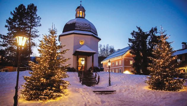 Silent Night chapel: This simple church in the Austrian town of Salzburg is named for the Christmas carol written in and first performed in the town in 1818.