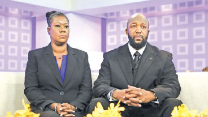 """This photo courtesy of NBC shows Sybrina Fulton (L) and Tracy Martin as they appear during an interview on NBC News """"Today"""" show on July 18 in New York. AFP"""