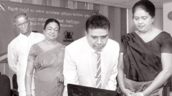 Secretary to the President on Parliamentary Affairs Kumarasiri Hettige participates in the launching of the official website of the Sri Lanka Insurance Board, Rajagiriya, Jayawardhanapura Kotte.