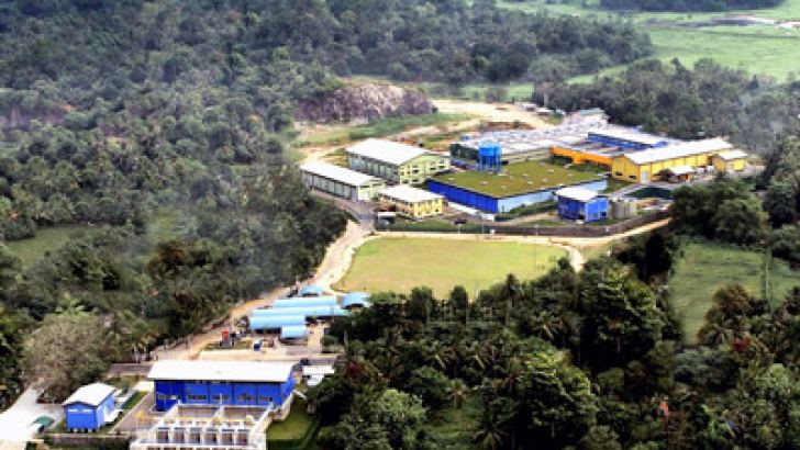 An aerial view of the Water Treatment Plant at Biyagama. Picture by  Sudath Pubudu Keethi, Delgoda Group Corr