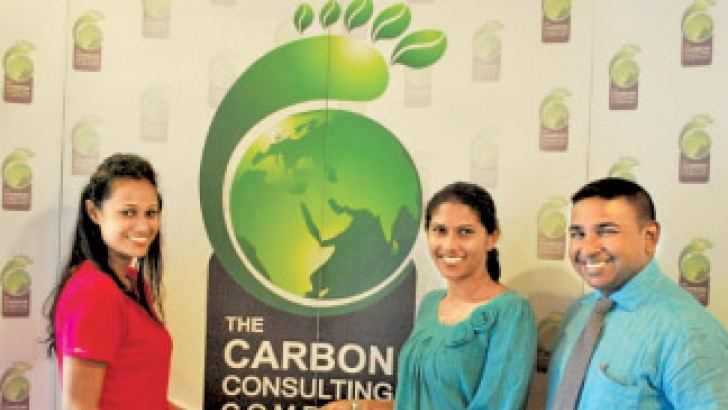 Miss Sri Lanka for Miss Earth contestant Finalist Monali Dissanayake with Project Manager for the Hiniduma Bio Link – Lakmini Senadheera and COO of the Carbon Consulting Company - Sanith de Silva Wijeyeratne