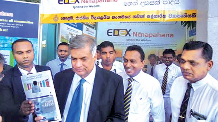 Prime Minister Ranil Wickremesinghe visited the EDEX Nenapahana stall at the opening of the Colombo International Book Fair
