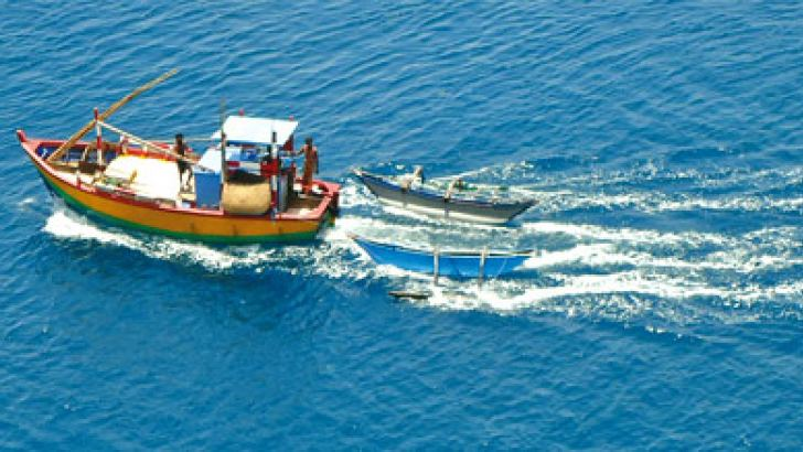 Fishing boat at sea in Trincomalee sent by Kalpani Weththasinghe
