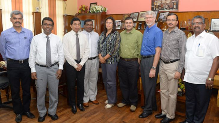 The Indian delegation with Health Services Director General Dr. Palitha Mahipala
