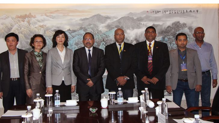 Wang Xiaoning, Section Chief, Xining Municipal Bureau of Commerce, Chen Xia, Deputy Director of Xining Foreign and Overseas Chinese Affairs Office, Wang Tong, Deputy Mayor, Xining Municipal People's Government. Amal Lokumana, Vice President-ASLCSCC, Jaliya Senevirathne, Bimla Wijayasinghe, Dr. Tharaka Elvitigala and Goshitha Dullewe
