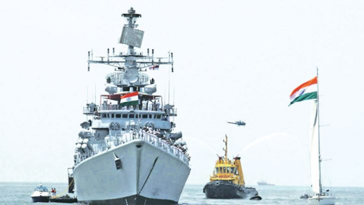 Indian Naval ships during a month long deployment in the Arabian Gulf.