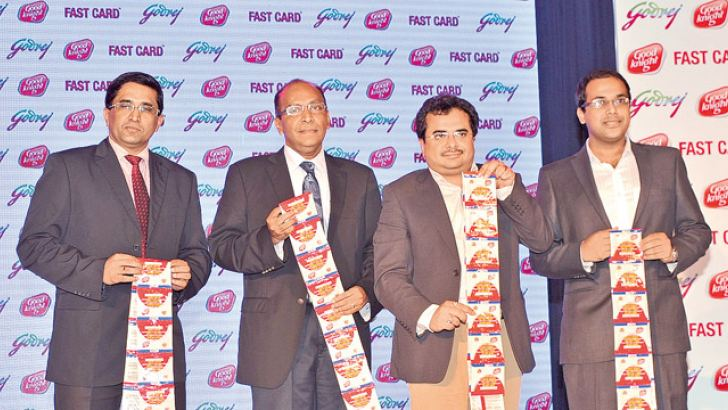 Godrej and Delmege Forsyth officials at the launch. Pictures by Sumanachandra Ariyawansa
