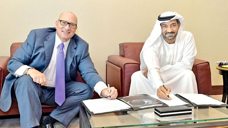 At the Dubai air show today, Sheikh Ahmed bin Saeed Al Maktoum, Chairman and Chief Executive, Emirates airline and Group and David Joyce, President and Chief Executive Office for GE Aviation signing the US$16 billion OnPoint solution agreemen.