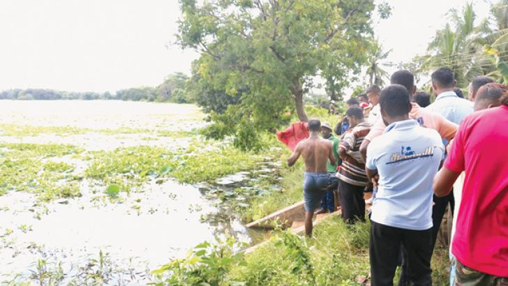 The pond in which the three drowned.  Pictures by Prasad Purnamal