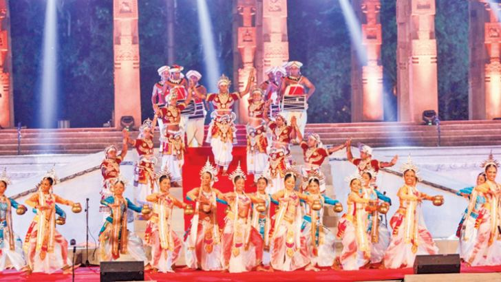 President Maithripala Sirisena in the company of ministers and  dignitaries enjoying the cultural show at Independence Square on Saturday evening, organised as a part of the ceremonies to mark the first anniversary of President Sirisena's ascendance to  presidency. Pictures by President's Media Division