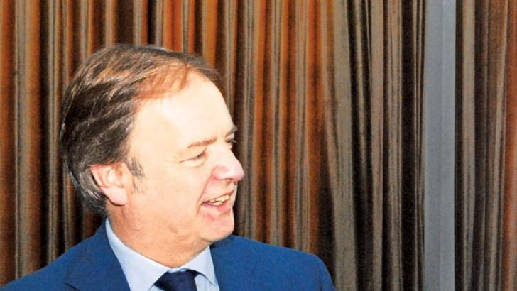 UK's Minister for Asia, Hugo Swire.  Pic. by Siripala Halwala