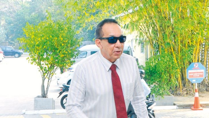 Former SriLankan Airlines Chairman Nishantha Wickramasinghe summoned before the Presidential Commission of Inquiry to Investigate and Inquire into Serious Acts of Fraud, Corruption and Abuse of Power, State Resources and Privileges to record a statement.  - Picture by Wasitha Patabendige