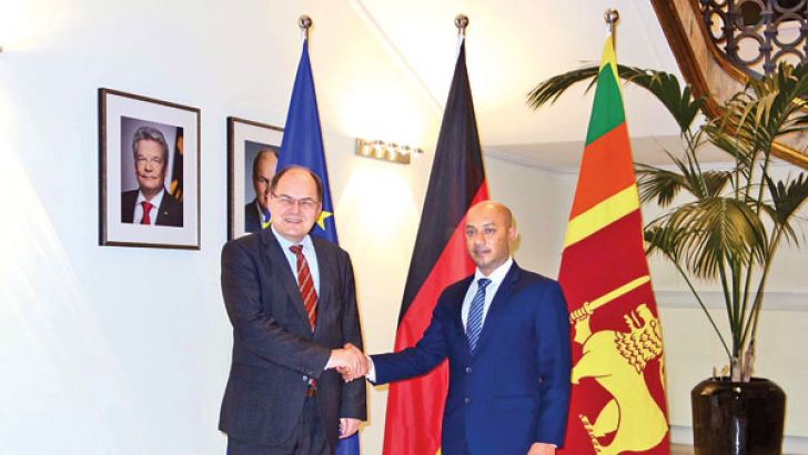 Agriculture Minister Duminda Dissanayake meets German Federal Minister for Food and Agriculture Christian Schmidt