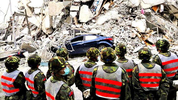Rescuers race to find survivors after the deadly quake.