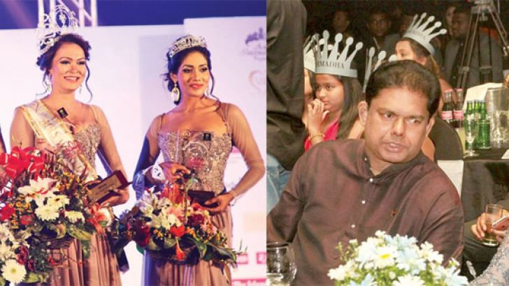 The finals of Mrs. Sri Lanka beauty contest was held at the Galadari Hotel recently. Narmada Yapa Abeywardena was crowned Mrs Sri Lanka 2016, while Himali Gunawardena and Lakmali Maludugama were crowned as first and second runners up respectively by Mrs World 2015 Marina Alekseychik. Picture shows Parliamentary Reforms and Mass Media Minister Gayantha Karunathilake who participated at the event as the Chief Guest in conversation with  Mrs World 2015 Marina Alekseychik.
