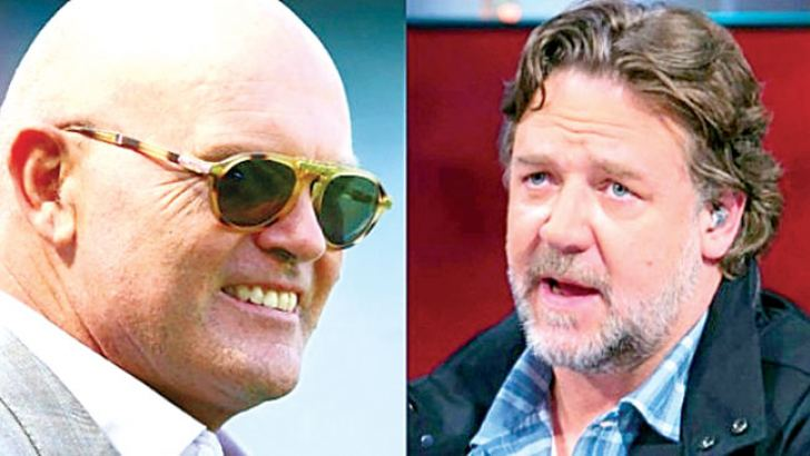 Family bond: Cousins Martin and Russell Crowe