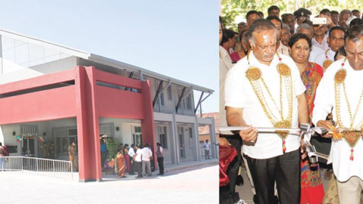 Labour and Trade Union Relations Minister W.D.J.Seneviratne participates in the opening of  the new labour office at Mullaithivu.