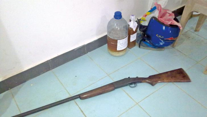 The gun used for hunting
