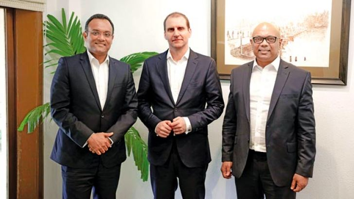 The London Stock Exchange Group officials in Colombo.