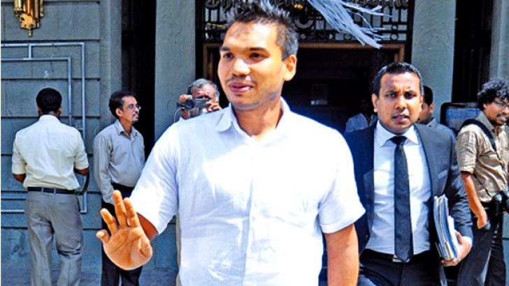 Namal Rajapaksa was summoned by the FCID to record a statement regarding a land related issue.  Picture by Wasitha Patabendige