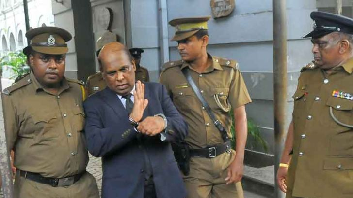 former Western Province Senior DIG Anura Senanayake arrested by the CID on Monday. Picture by Rukmal Gamage