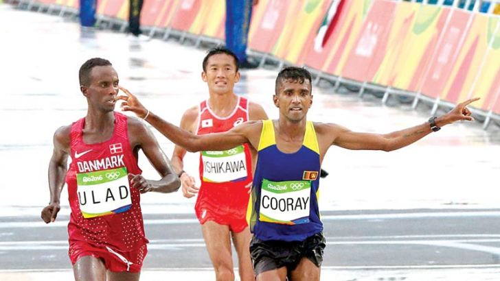 Cooray completing the Rio 2016 Olympic marathon