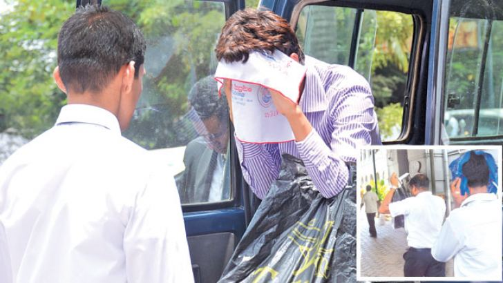The two who allegedly hacked the President's website being brought to court yesterday.  Pictures by Sarath Peiris