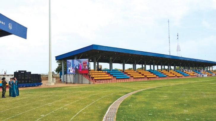 The renovated Durayappah Stadium in Jaffna will be the focus of attention for four days from September 30 when it hosts the 42nd National Sports Festival. File photo