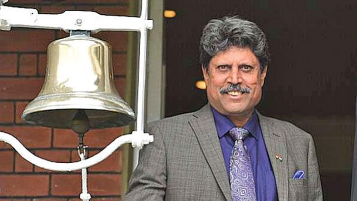 Kapil Dev was invited to ring the bell at Lord's during the 2014 Test featuring India and England.