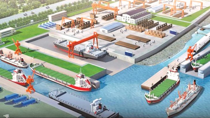 The proposed Hambantota Dockyard project