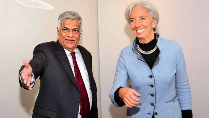Prime Minister Wickremesinghe in discussion with International Monetary Fund  Managing Director Christine Lagarde