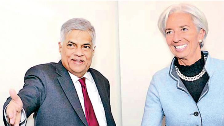 International Monetary Fund Managing Director Christine Lagarde meeting Prime Minister Ranil Wickremesinghe in Switzerland.