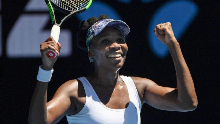 Venus Williams of the US celebrates her win against Russia's Anastasia Pavlyuchenkova during their women's singles quarter-final match on day nine of the Australian Open tennis tournament in Melbourne on January 24. AFP