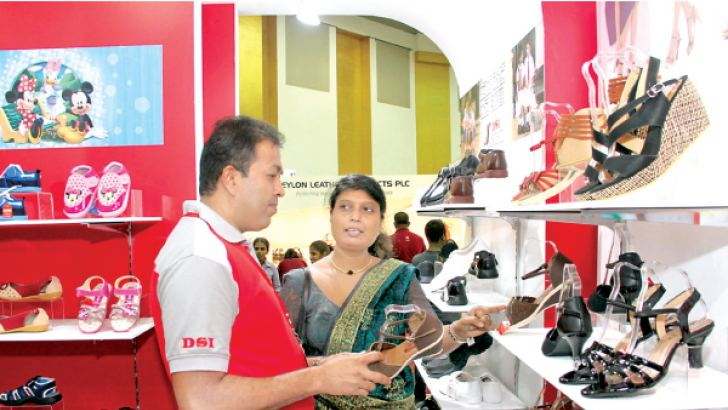 The 9th annual Footwear and Leather Fair successfully concluded at the BMICH, where the  public were able to witness a massive range of quality footwear and  leather accessories. This year attracted the highest number of visitors  since its commencement. The DSI outlet at the event. Picture by Sulochana Gamage.