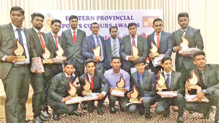The award winners of the Eastern Province Sports Department
