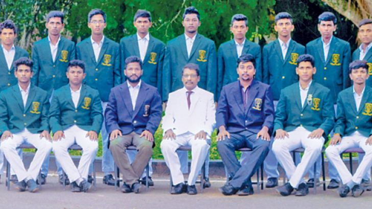 Bandaranayake Central College team with officials