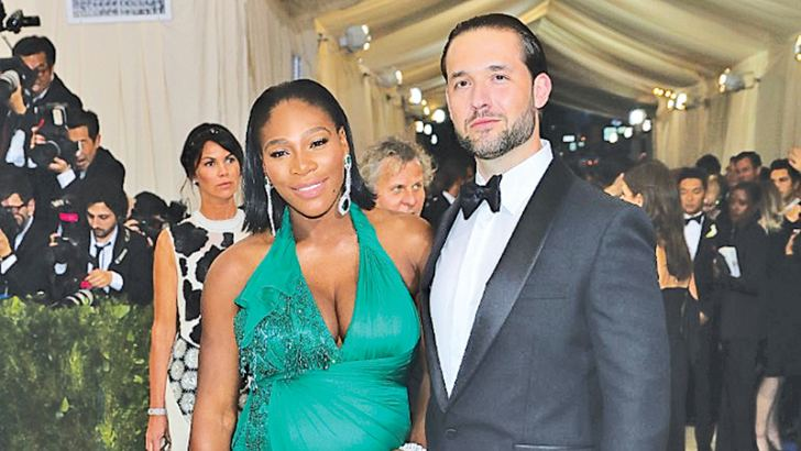 Serena Williams with her fiance Alexis Ohanian.