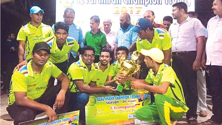 Champion Real Imran Sports Club of Nintavur team with the trophy